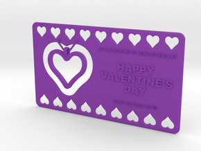 My 3D Printed Valentine - Customizable in Purple Processed Versatile Plastic