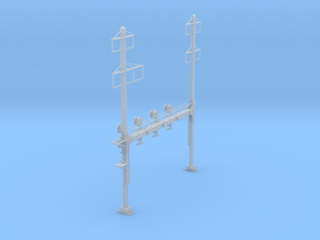 CATENARY PRR BEAM SIG 4 TRACK 2-3PHASE N SCALE  in Smooth Fine Detail Plastic