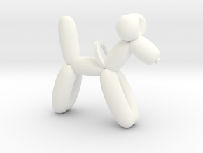 Balloon Dog in White Processed Versatile Plastic
