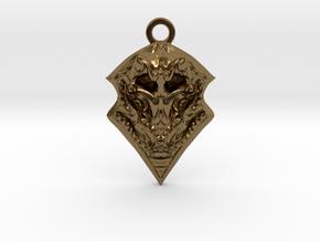 BORO pendant  in Polished Bronze