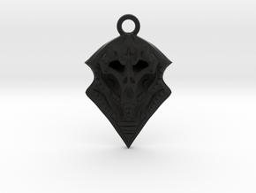 BORO pendant  in Black Natural Versatile Plastic