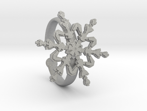 Snowflake Ring 2 d=19.5mm Adjustable h35d195a in Aluminum
