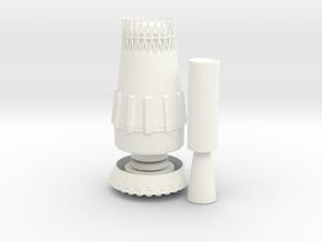 1:200 Soviet N1 Moon Rocket in White Processed Versatile Plastic