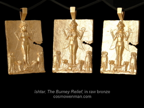 Queen of the Night, Ishtar pendant in Natural Bronze