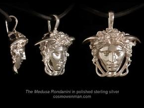 Medusa Rondanini pendant in Polished Silver