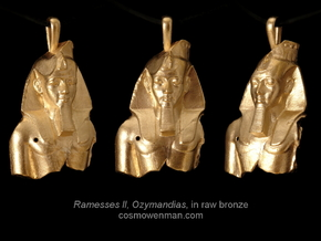 Ramesses II, Ozymandias, pendant in Natural Bronze