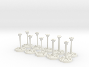 "Starship Stand 1"" base, 10-pack in White Natural Versatile Plastic"