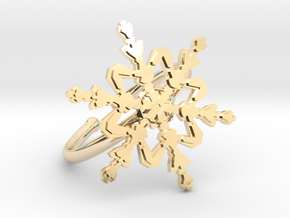 Snowflake Ring 2 d=19.5mm Adjustable h21d195a in 14k Gold Plated Brass