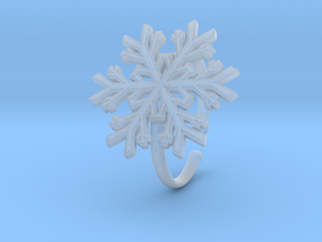 Snowflake Ring 1 d=19.5mm Adjustable h21d195a in Smooth Fine Detail Plastic