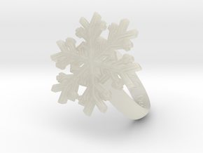 Snowflake Ring 1 d=16.5mm h35d165 in Transparent Acrylic