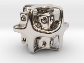 Holed Cube in Platinum