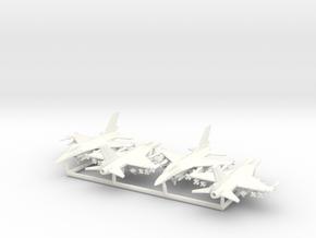 F-16C w/Gear x4 (FUD) in White Processed Versatile Plastic: 1:350