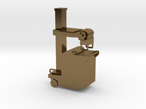 Portable xray machine in Polished Bronze