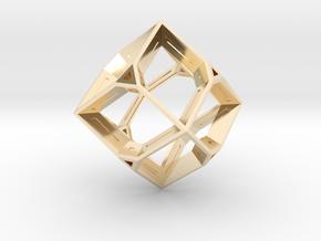 Truncated Octahedron in 14K Gold