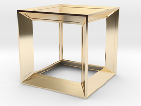 Cube in 14K Yellow Gold