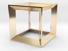 Cube in 14K Gold