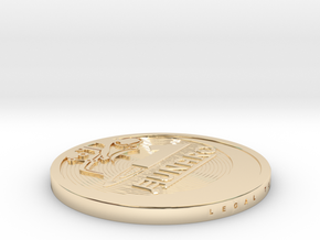 "1 ""Lunaro sterling 2013"" coin in 14K Yellow Gold"