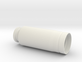 "30x90mm Casing, ""Type B"" Style   in White Natural Versatile Plastic"