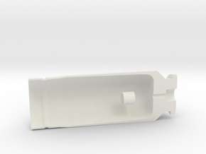 "30x90mm Cutaway Casing, ""Type B"" Style  in White Natural Versatile Plastic"