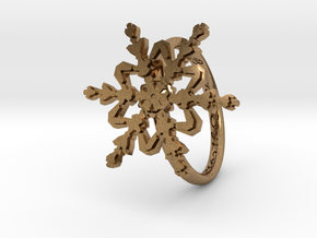 Snowflake Ring 2 d=16.5mm h21d165 in Natural Brass