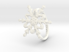 Snowflake Ring 2 d=16.5mm h21d165 in White Processed Versatile Plastic