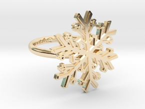Snowflake Ring 1 d=16.5mm h21d165 in 14K Yellow Gold