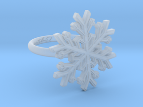 Snowflake Ring 1 d=16.5mm h21d165 in Smooth Fine Detail Plastic