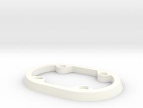 Brush Skirt Ring in White Processed Versatile Plastic