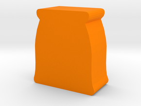 Game Piece, Grain Sack in Orange Processed Versatile Plastic