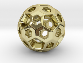 HONEYBOMB Pendant in 18k Gold Plated Brass