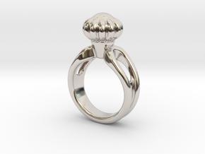 Ring Beautiful 14 - Italian Size 14 in Rhodium Plated Brass