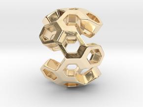HONEYBOMB GSENSE, Pendant in 14K Yellow Gold