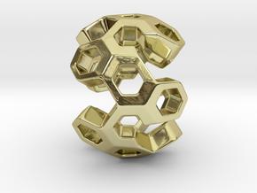 HONEYBOMB GSENSE, Pendant in 18k Gold Plated Brass