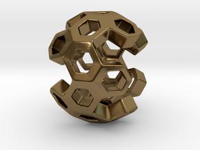 HONEYBOMB ESENSE, Pendant. Sweet Explosion in Polished Bronze