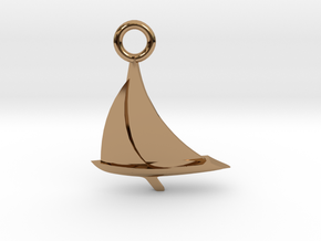 Sailboat Pendant in Polished Brass