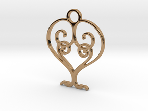 Love Grows Pendant in Polished Brass