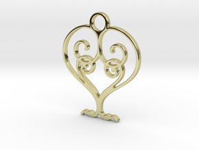 Love Grows Pendant in 18k Gold Plated Brass
