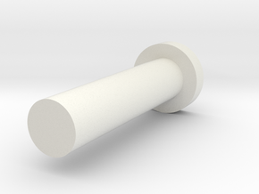 Handle Axle in White Natural Versatile Plastic