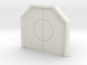 Hub Closed Door in White Natural Versatile Plastic