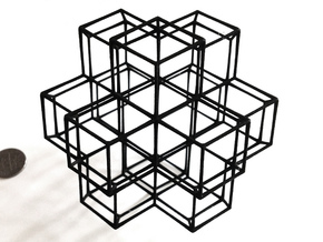 Rhombic Dodecahedral Lattice in Black Natural Versatile Plastic