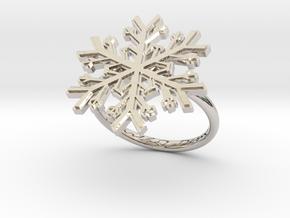 Snowflake Ring 1 d=17.5mm h21d175 in Platinum