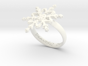 Snowflake Ring 2 d=18.5mm h35d185 in White Processed Versatile Plastic