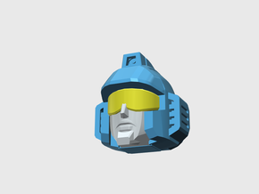 Rescue Patrol Sub-commander's Head in Smooth Fine Detail Plastic: Small
