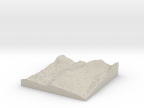 Model of Mongaup Pond in Natural Sandstone
