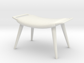 1:24 Wegner Lounge Ottoman in White Strong & Flexible