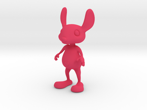 Tiny Heart Bunny in Pink Strong & Flexible Polished