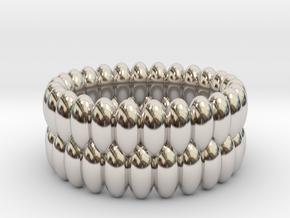 V6 - Ring in Rhodium Plated Brass