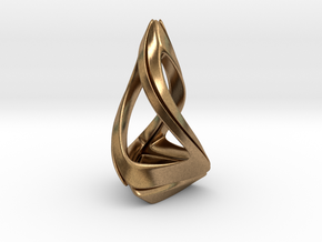 Trianon T.1, Pendant. Stylized Shape in Natural Brass