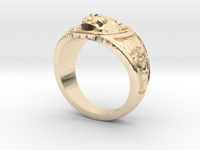 Tiger ring #4  size 9.5 in 14K Yellow Gold