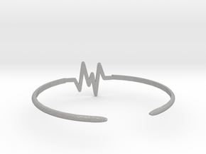 Keep Moving Bangle in Aluminum